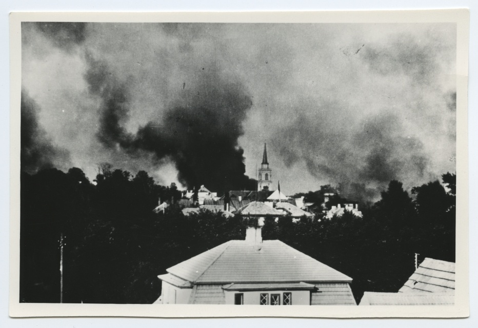 In the fire of Tartu on 12 July 1941 in the back plan of Maarja Church