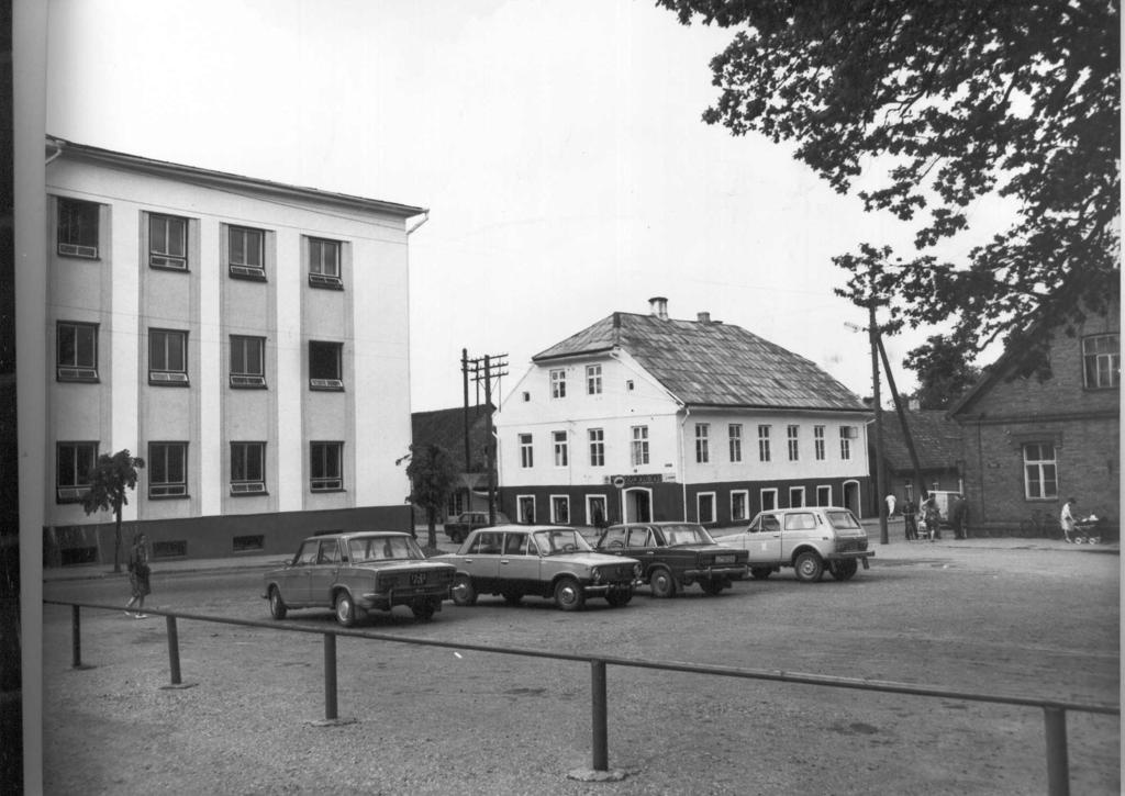 Photo. Võru, view of Lenin and Koidula tn. On the crossroads from the east of 1984.
