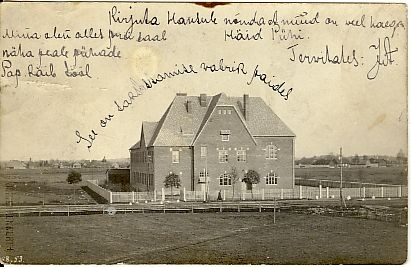 Postcard, Paide German Gymnasium in the 20th century. At the beginning
