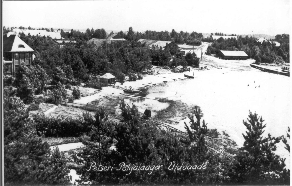 Photo. General view of the Northern Camp of Petser on August 24, 1931. Fresh.