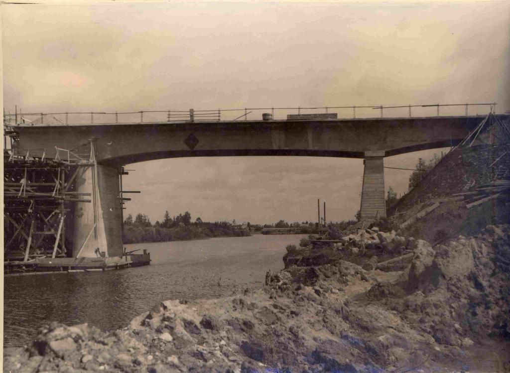 Photo Luunja iron concrete bridge construction