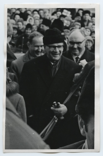 President of Finland Urho Kaleva Kekkonen at the University of Tartu and Käärikul