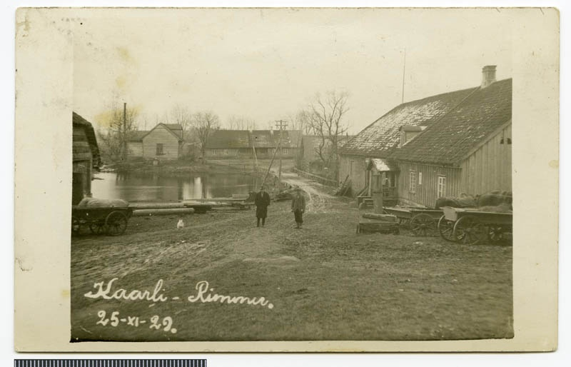 Photo postcard, Rimmu-Kaarli veski