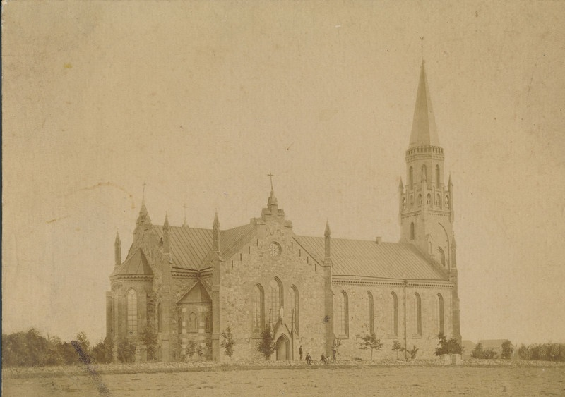 Photo, Viljandi, Paulus Church, approx. 1885