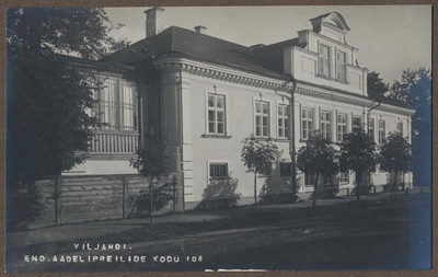 Photo, Viljandi, Aadlipway home Stift, approx. 1910  duplicate photo