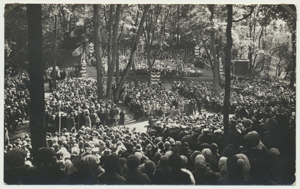 Photo, Viljandi, Sakalamaa song festival, general view of the song field, 1931
