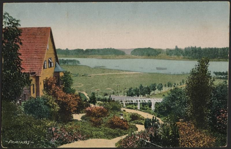 Postcard, Viljandi, view from Trepimäe to lake