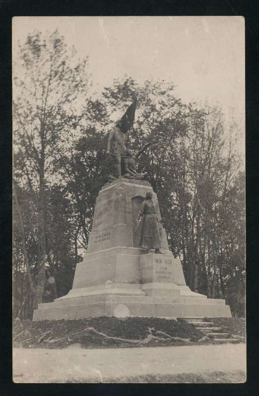 Photo postcard, Viljandi monument for those who fell in the Estonian War of Independence