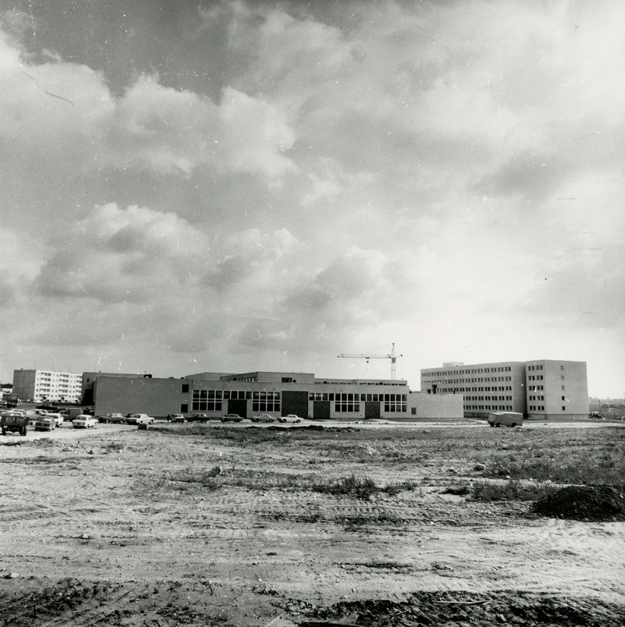 Kose vocational secondary school, construction period view. Architect Henno Telve