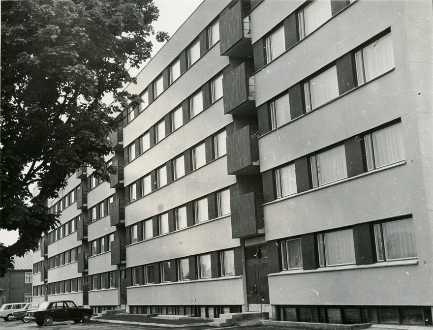 Apartment building in Rakvere, front view
