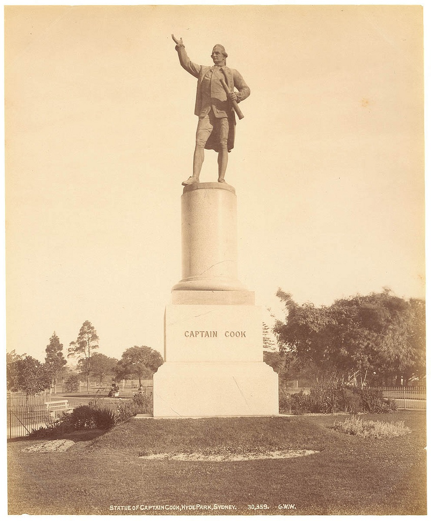 Statue of Captain Cook, Hyde Park, from Fred Hardie - Photographs of Sydney, Newcastle, New South Wales and Aboriginals for George Washington Wilson & Co., 1892-1893