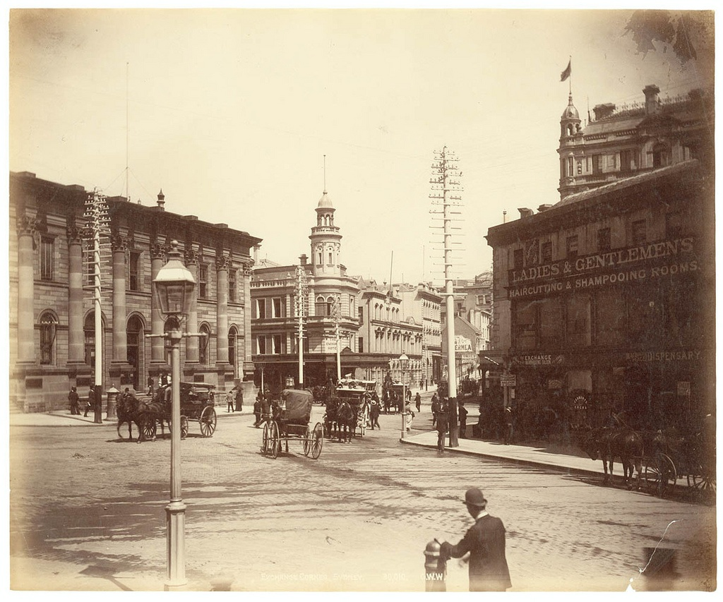 Exchange Corner, Sydney from Fred Hardie - Photographs of Sydney, Newcastle, New South Wales and Aboriginals for George Washington Wilson & Co., 1892-1893