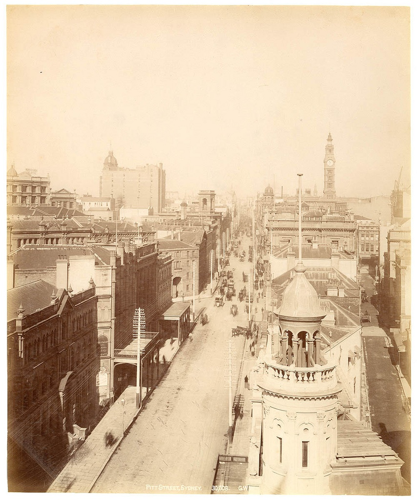 Pitt Street, Sydney from Fred Hardie - Photographs of Sydney, Newcastle, New South Wales and Aboriginals for George Washington Wilson & Co., 1892-1893