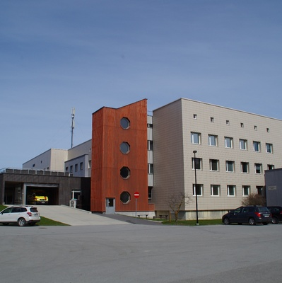 Rakvere Gender Hospital, view. Architect Ilmar Wood Forest rephoto