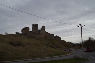 View of the ruins of Rakvere Castle rephoto
