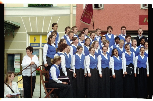 The Concert of the Youth Choir of England (Berkshire Youth Choir) in Tallinn on the Raekoja Square