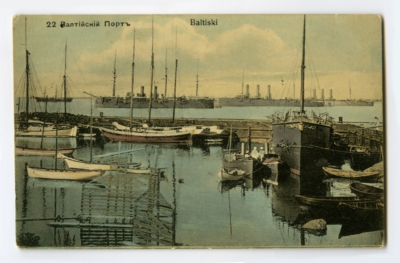 View of the Port of Paldiski (colored postcard, no control photo)