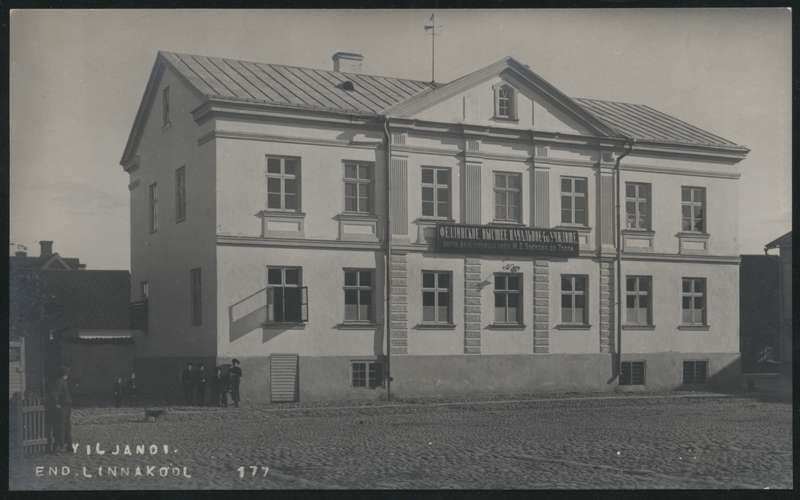 Photo postcard, Viljandi City School (higher primary school)