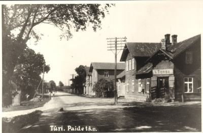 Photocopy, Paide Street on Türi in the 20th century. In the first half  duplicate photo