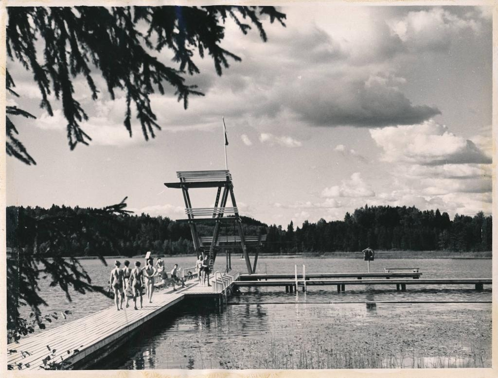 University of Tartu. TRÜ sports base Kääriku water sports base. 1961