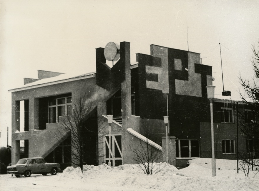 Administrative building in Käinas, view. Architect Aivo Schults