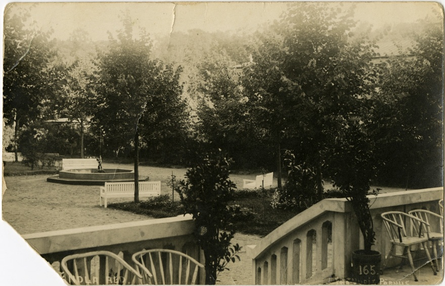 The Garden of Endla Theatre House, view from the terrace
