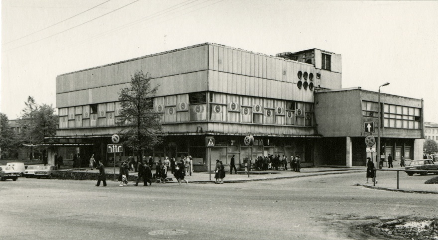 Tartu storehouse, view of the building from the corner. Architect Uno Sisa, TsP