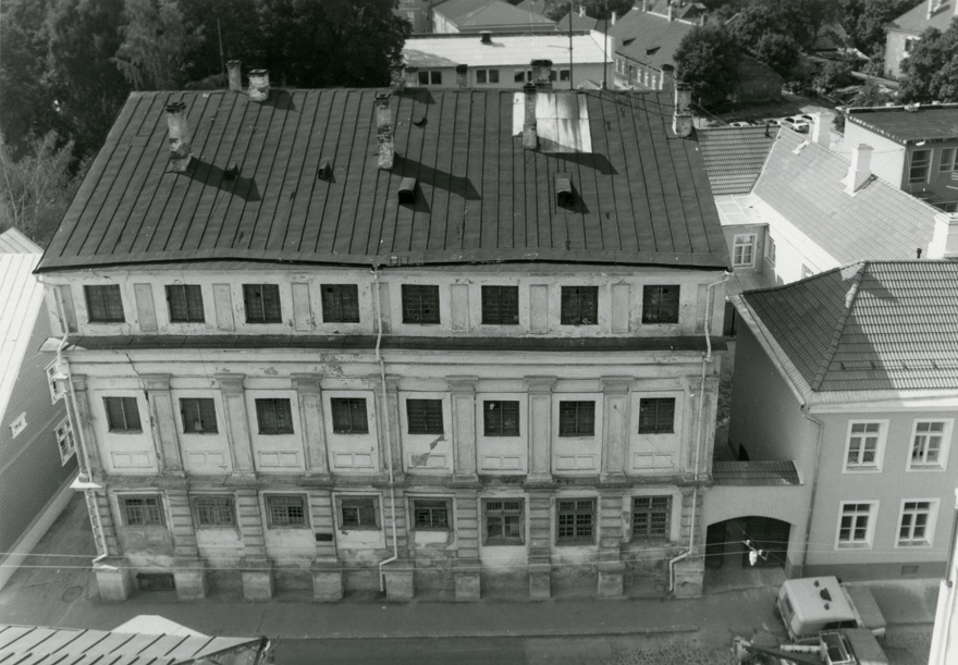 Academia Gustaviana building in Tartu, facade view. Architects P.v. Eating; g. Melck; Reinhold Guleke