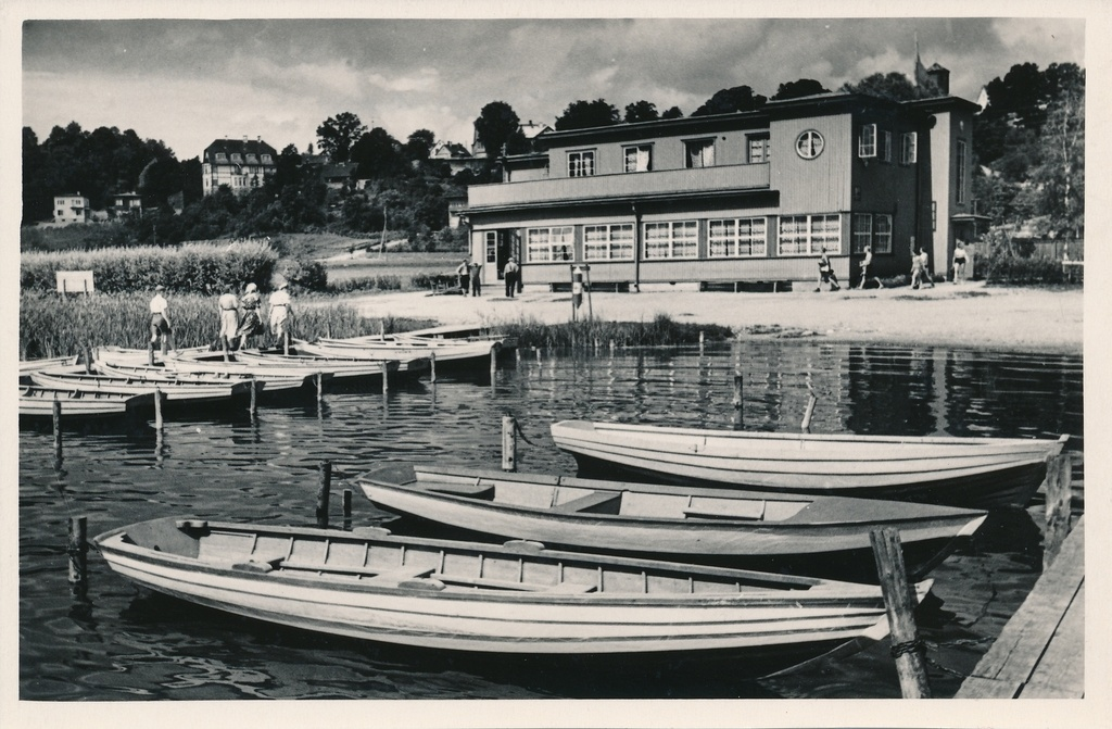 Photo, Viljandi, lake, boat harbour, sports club, approx. 1960, photo a. Kiisla