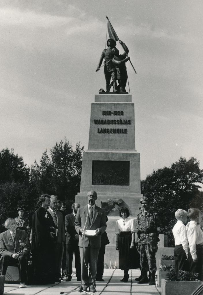 Reopening the fair pillar of the War of Independence in Rakvere