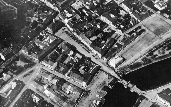 Aerofoto: Tartu city centre, 1920/1930. Years.