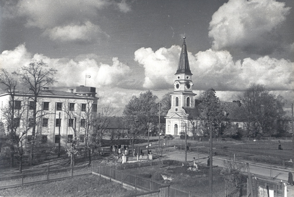 Photo. Võru city centre 1958. Photo Hillar New.
