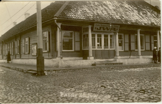 Photo Paide Iva House at the Central Square in the 1920s-30s
