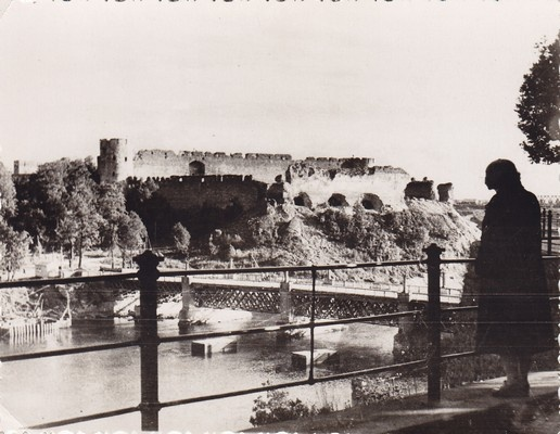 View of the fortress of Ivangorod. In 1950