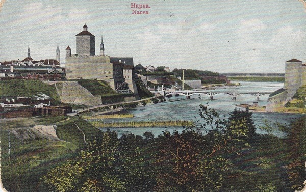 View of the city of Narva and Herman Fortress