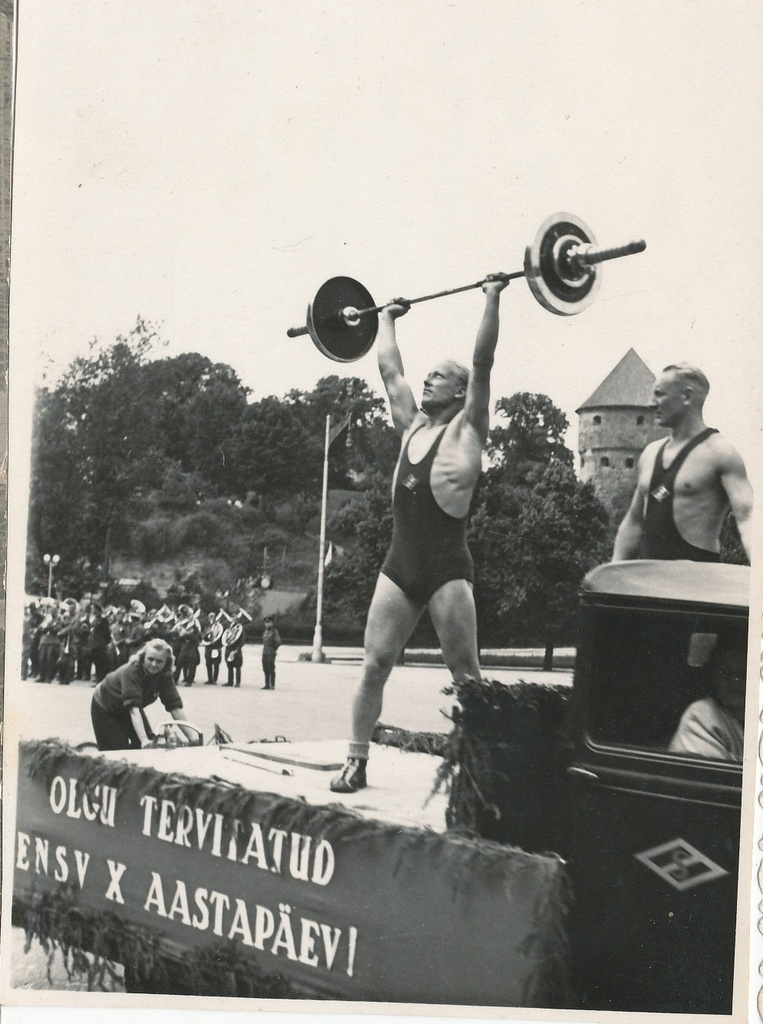 Promotional sports demonstration in Tallinn