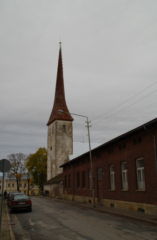 Rakvere Church on Pikal Street rephoto