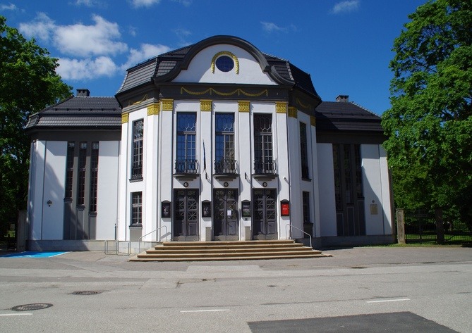 Vanemuise Theatre (so-called small Vanemuine; Vanemuise 45a). Tartu, 1990-1995. Photo Malev Toom. rephoto