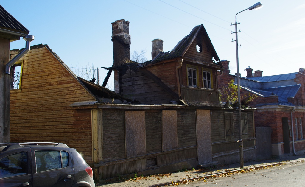 The house in Rakvere on Pikal Street rephoto