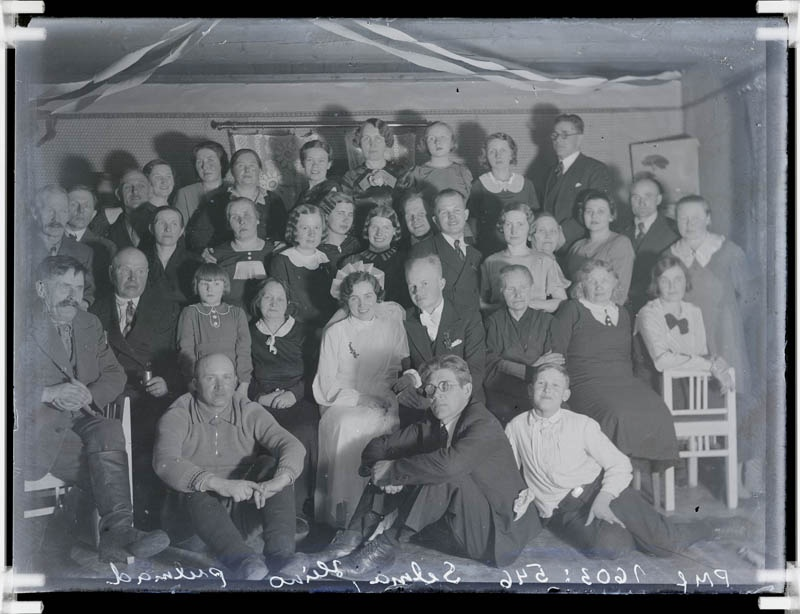 The Glass Negative, Heino and Selma Weddings at Rõal Vainu Farm in 1934.