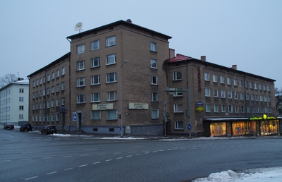 Apartment in Tartu, view of the building from the corner. Architect Raul-Levroit Kivi, EP rephoto