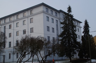 University of Tartu, the construction of Pälson 23 (Pepleri 23) is completed. 1953. Photo Hillar Palamets. rephoto