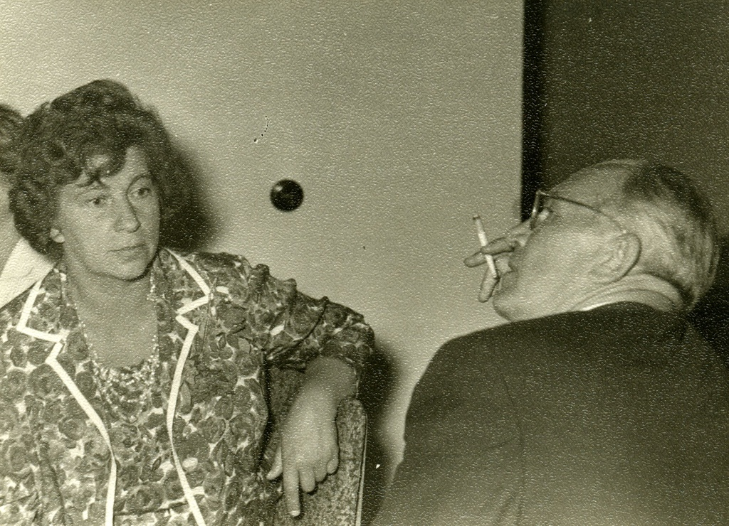 Kersti Merilaas and August Sang Helene Siimisker Dissertation Protection Party at the Literature Museum 21.06.1963