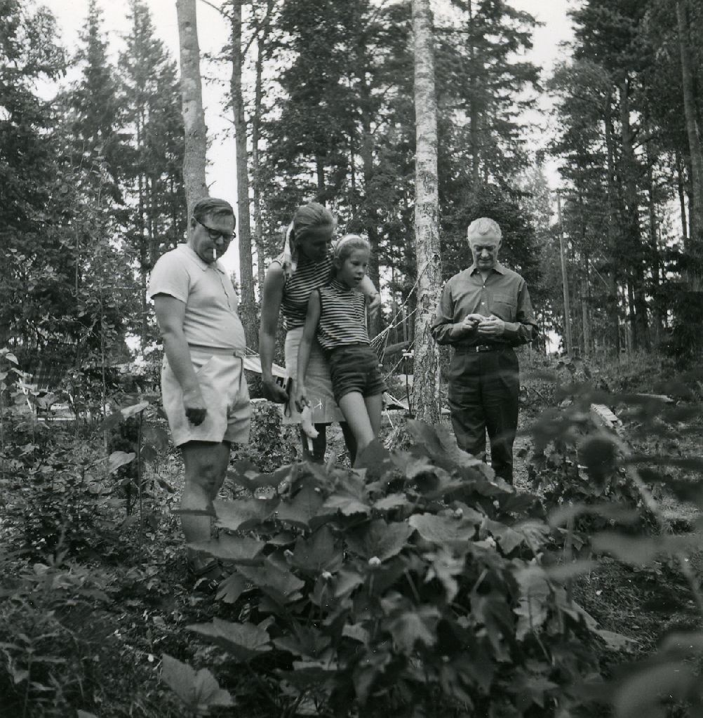 Kalju Lepik, Karl Ristikivi and others in the forest