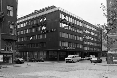 Kaukotalo, Fabianinkatu 9. - southern Makasin Street 6. The building was located in the photo archives of the City Museum of Helsinki.  similar photo