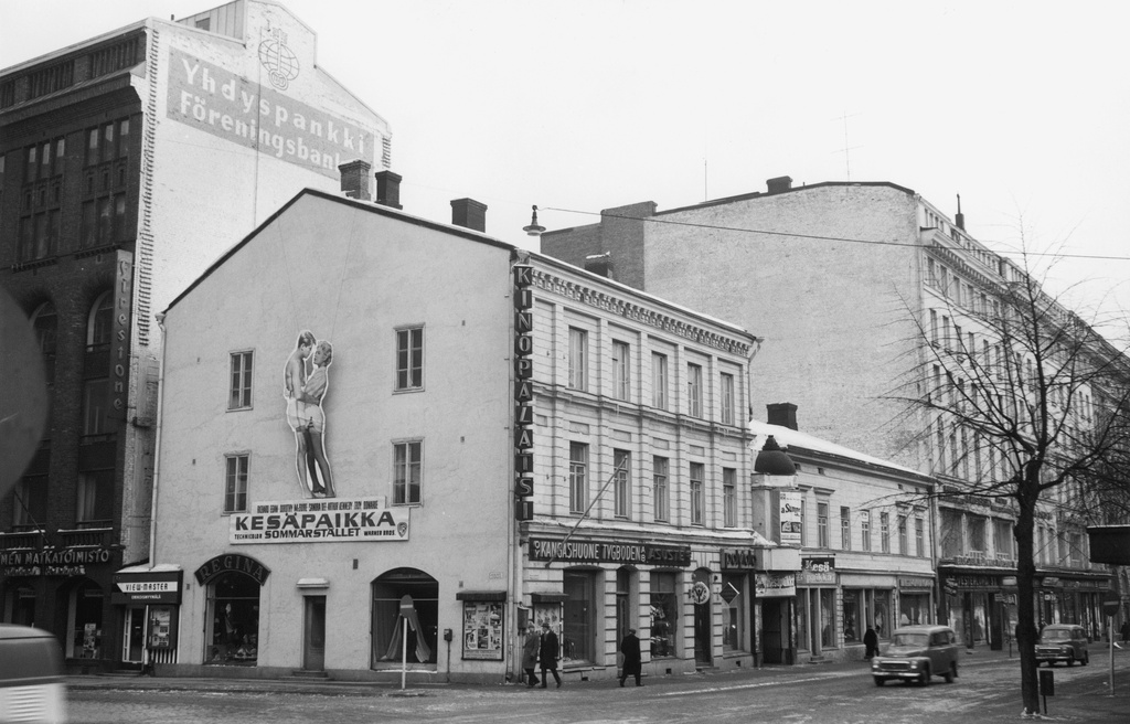 Film Theatre Kino-Palatsi. Northern Esplanadi 39 - Keskuskatu 1a. The first evening of the summer place (a Summer Place) film was in Kino-Palats on 19 February 1960.