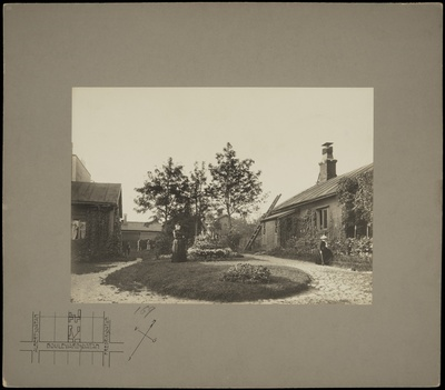 Bulevardi 17, indoor garden. Tree plantations and residents of the houses.  duplicate photo