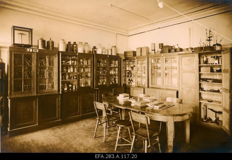 Room of experiments and collections in physics at the Tallinn Technical Chemical Laboratory.