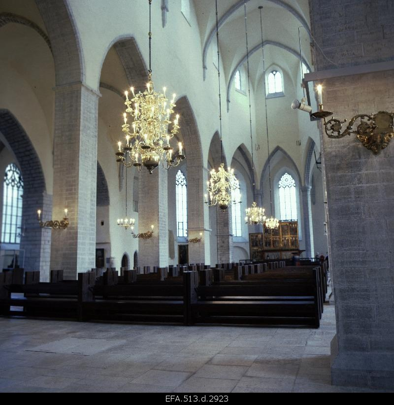 Internal view of the Niguliste Church.