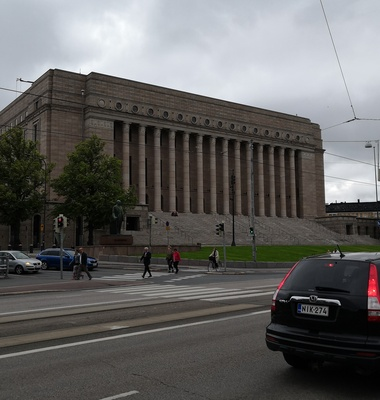 The Parliament House of Finland, 1945 rephoto
